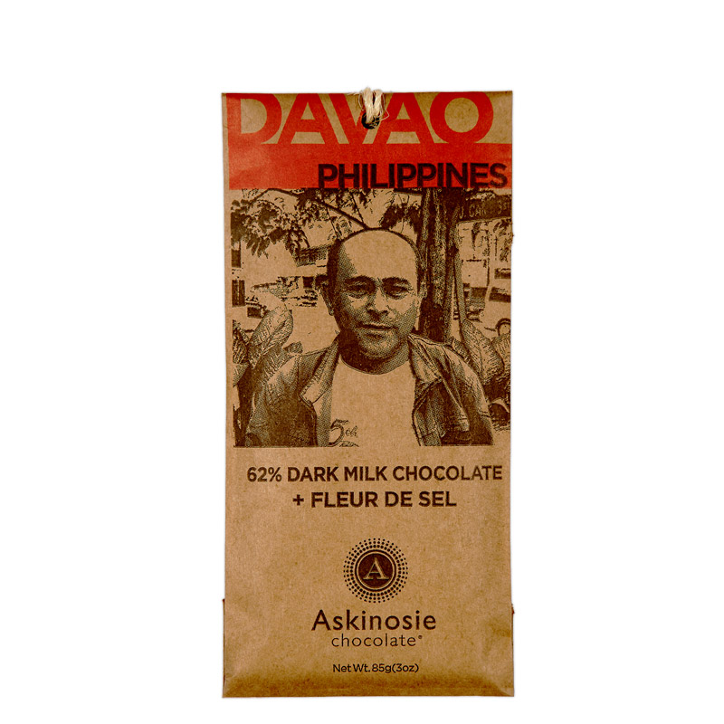 Askinosie Davao Dark Goat Milk Chocolate + Sea Salt