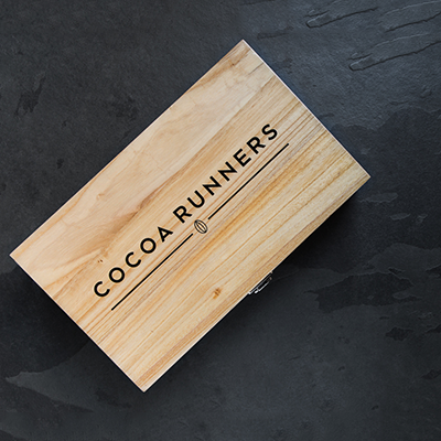 Cocoa Runners Wooden Hamper