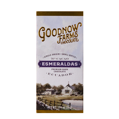 Goodnow Farms Chocolate - Esmeraldas 70% Ecuadorian Dark Chocolate