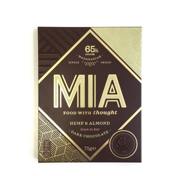 MIA - 65% Dark Chocolate with Hemp & Almond