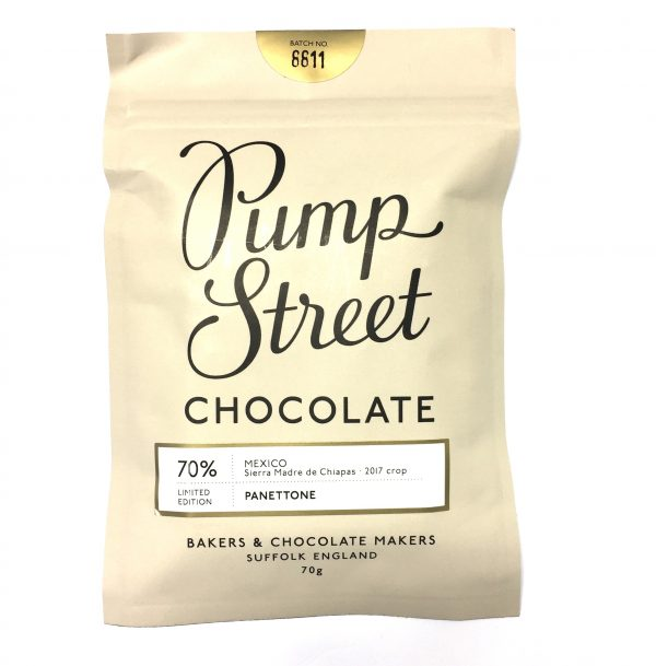 Pump Street Chocolate - Panettone Bar, Mexico 70%