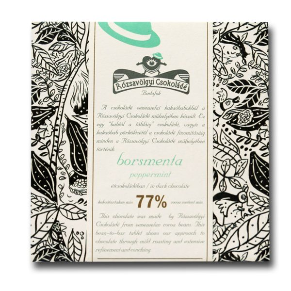 Rózsavölgyi Csokoládé Dark Chocolate 73% With Peppermint