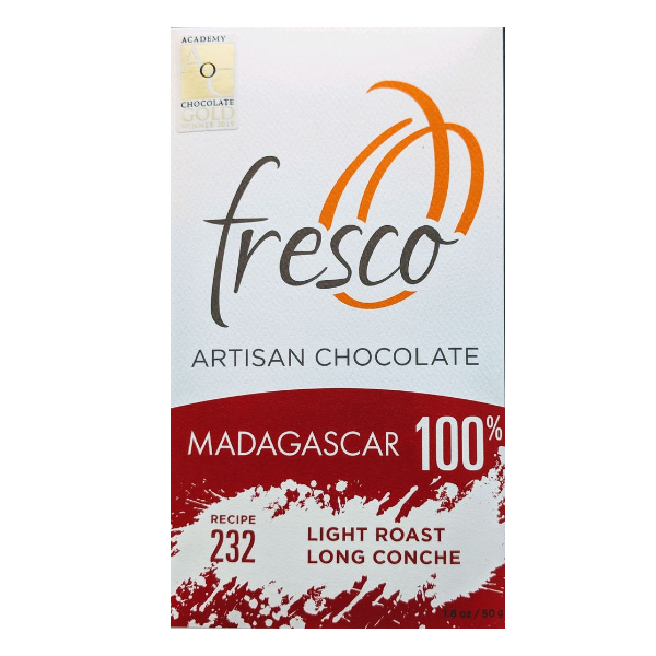 Fresco - Madagascar 100% Cacao, Light Roast, Long Conche